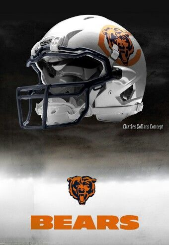 Concept Helmet I Like Some Of These Nfl Should Consider Some Of These I Think They R Badass Ch Chicago Bears Helmet Chicago Bears Football Nfl Football Helmets