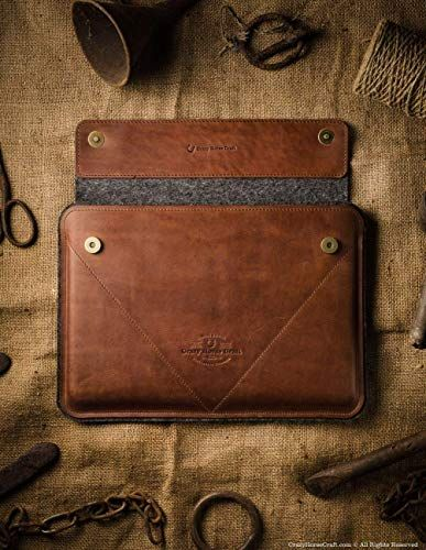 2018 Macbook Pro 13 15 Inch Classic Brown Case Sleeve Genuine Leather 100 Wool Felt Handmade Uniq Macbook Air Case Macbook Cases Sleeve Macbook Pro 13 Inch