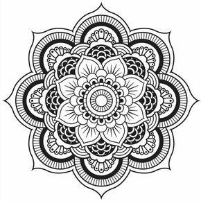 Originelle Mandala Form Eine Hubsche Blume Simple Mandala Simple Mandala Design Mandala Design