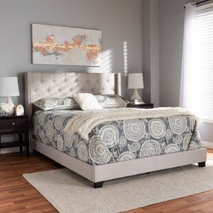 Mercer41 Lockesburg Tufted Upholstered Low Profile Platform Bed Wayfair In 2020 Contemporary Bed Upholstered Panel Bed Panel Bed