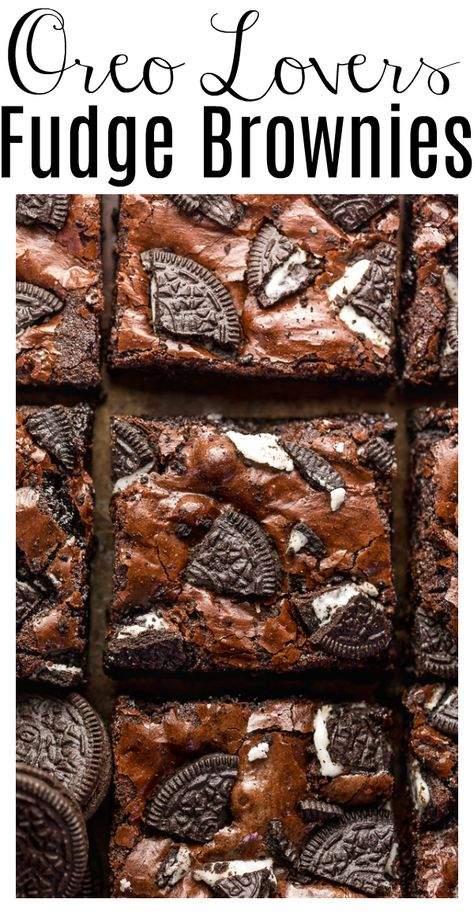 Oreo Brownies, Baking Brownies, Homemade Brownies, Chocolate Brownies, Köstliche Desserts, Delicious Desserts, Yummy Food, Summer Dessert Recipes, Slow Cooker Desserts