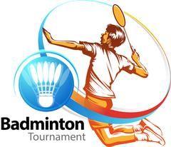 Download Female Badminton Player Symbol Graphic 104634381 Badminton Tournament Badminton Event Logo