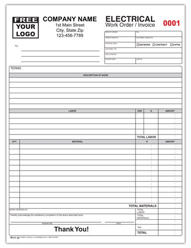 Electrical Contractor Invoice Form Invoice Template Invoice Template Word Electricity
