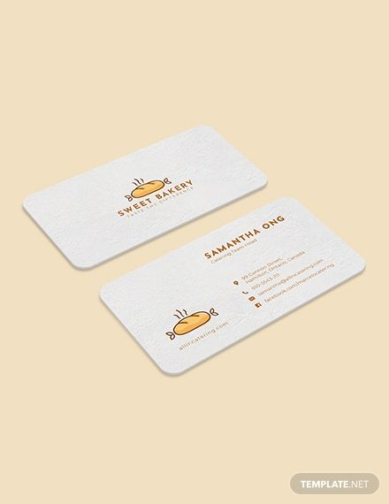 Bakery Business Card Template Word Doc Psd Apple Mac Pages Google Docs Illustrator Publisher Bakery Business Cards Bakery Business Cards Templates Business Card Template Word