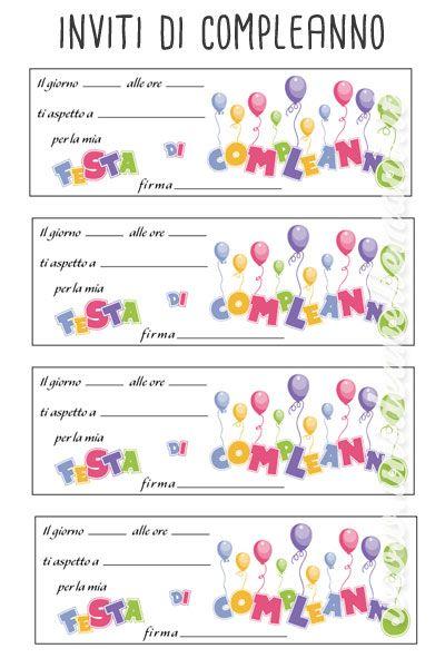 Conosciuto biglietti invito compleanno bambini da stampare,   Inviti ZT82
