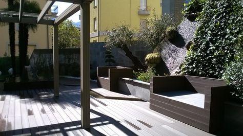 kleines mydeck wpc terrassenplatten stockfotos pic der fbdfecdbddfbcc lugano pergola