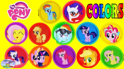 My Little Pony Learn Colors Toy Surprises Mane 6 Filly MLP Toys