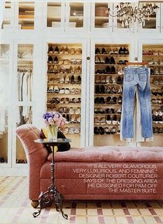My closet...I don't know who those shoes belong to