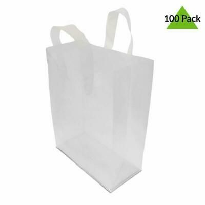 100 Pcs Frosted Clear Plastic Bags