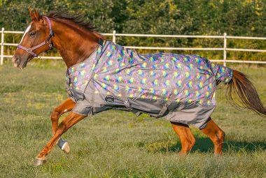 Showman Unicorn Print 1200 Denier Waterproof Turnout Blanket With 300 Grams Fill Horse Unicorn Print Horses Print