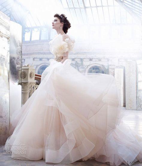 bd12291997fa lazaro sherbet pink wedding dress ball gown sweetheart satin organza floral  jewel horsehair 3250
