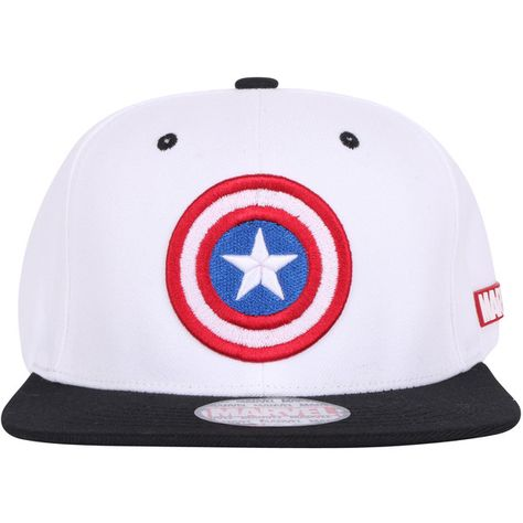 bfa6f8923a3a5 ililily Marvel Captain America Shield Logo New Era Style Snapback... ( 26)  ❤ liked on Polyvore