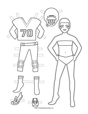 This paper doll printable features a girl football player and her this paper doll printable features a girl football player and her outfit free to download and print paper dolls pinterest girl football player pronofoot35fo Image collections