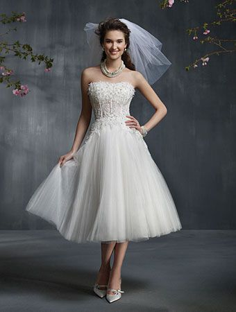 Short Wedding Dress from Alfred Angelo