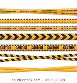 Police Line Do Not Cross Caution Lines Isolated Warning Tapes Danger Signs Vector Illustration Police Sign Police Vector