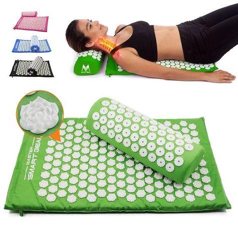 Yoga Lotus Spike Acupressure Mat Pillow Set Workout Belt Acupressure Mat Lotus Yoga