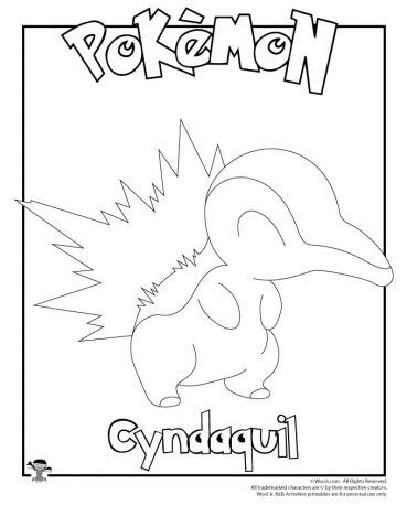 Cyndaquil Coloring Page Pokemon Coloring Pages Pokemon Coloring