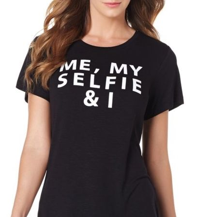Talk about having fun with fashion! We love the cheeky sayings on this graphic tee. Which one is your fave?
