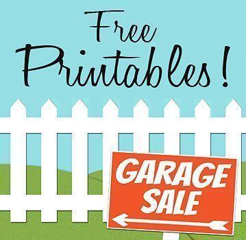 Free Printables Garage Sale Signs Price Tags Top Tools