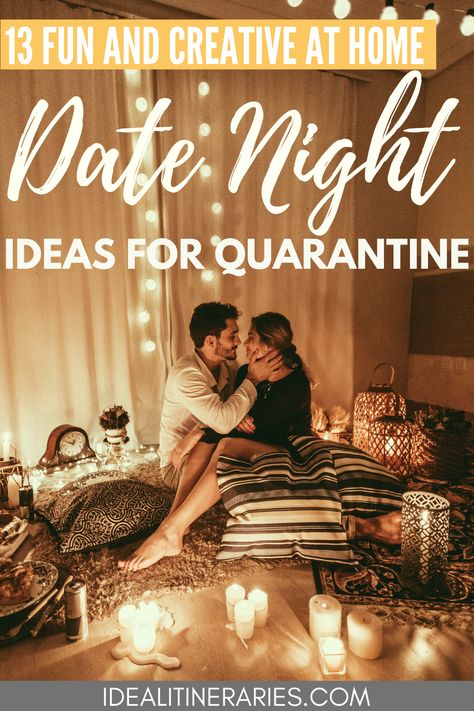 Don't let a stay-at-home order get you down! Here is a list of 13 creative and romantic date night ideas you can do from the comfort of your own home!
