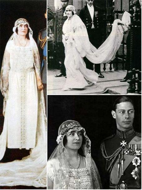 The Wedding Of Elizabeth Bowes Lyon And Albert Duke Of York 23 April 1923 Royal Wedding Gowns Royal Wedding Dress Royal Brides