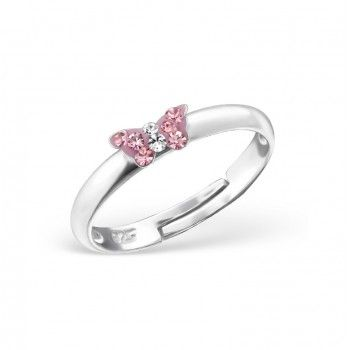 Children's Rings: Sterling Silver Pink Crystal Butterfly Rings | Kids rings,  Butterfly ring, Jewelry