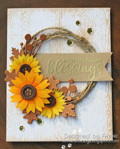 Pawsitive # Gedanken # von - Zukünftige P - Decoration Papier Sunflower Cards, Leaf Cards, Stamping Up Cards, Pretty Cards, Greeting Cards Handmade, Handmade Fall Cards, Halloween Cards, Paper Cards, Creative Cards
