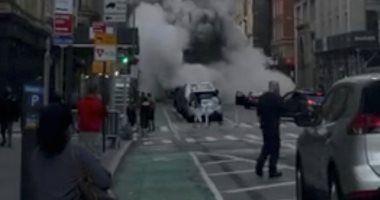 انفجار 5 أنابيب بخار عالية الضغط بنيويورك وقوات الإطفاء تحاول السيطرة صور