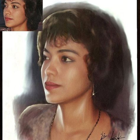 Digital painting I did for my mom when she was younger. #iloveyoumom #digitalportrait #portrait #corelpainter #corelpainter2017 #art #followforfollow #mom #followforfollow
