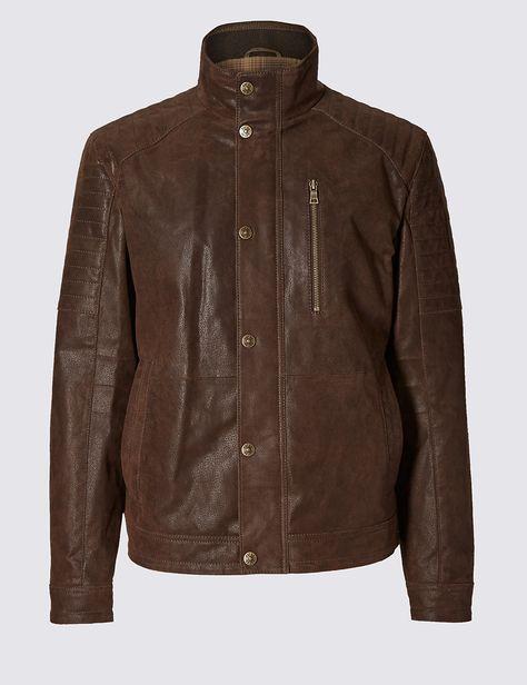 76a2976b3 Leather Biker Jacket | W18