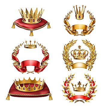 Realism Of Golden Crown Laurel Wreath Crown Golden Crown