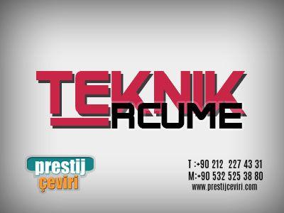 Teknik Tercume Teknik Istanbul Tekne