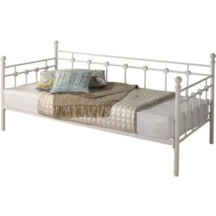 Buy Argos Home Abigail Single Metal Day Bed Frame White Day Beds Argos Abigail Argos Bed Beds Buy Day Frame Hom In 2020 Day Bed Frame Bed Frame Sofa Frame