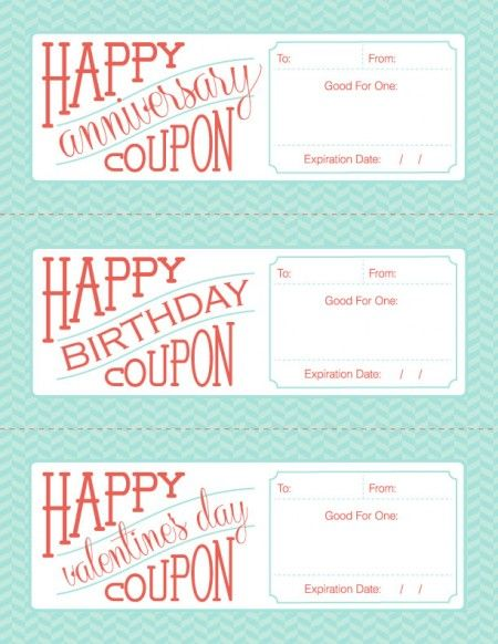 Free Downloadable Fillable Printable Coupons For Birthday
