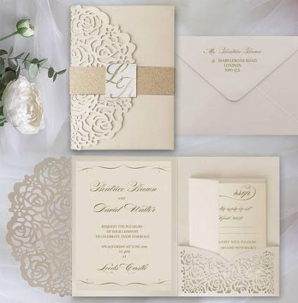 Wedding Card Invitation Elegant Belly Bands 50 Ideas Wedding Invitations Uk Dusty Pink Wedding Invitations Pocket Wedding Invitations