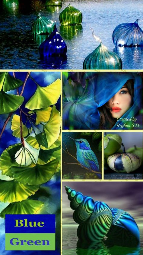 #Color advice #Style advice #Colorful with www.farben-reich.com '' Blue & Gree .....