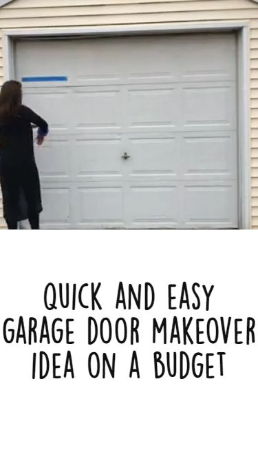 Quick and Easy Garage Door Makeover Idea on a Budget