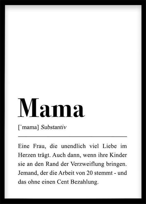 Mama Definition Geschenk für Mutter Geburtstag Mama | Etsy