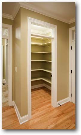 gut a hall closet and create pantry shelving for extra storage
