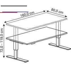 Badezimmerklein Bleiben Sie Immer Auf Der Hohe Dieser Elektrisch Hohenverstellbare Schreibtisch Bringt Dynam Adjustable Height Desk Adjustable Desk Oak Desk