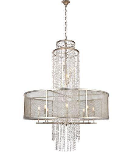 Elegant Lighting 1540g42asl Legacy 12 Light 42 Inch Antique Sliver