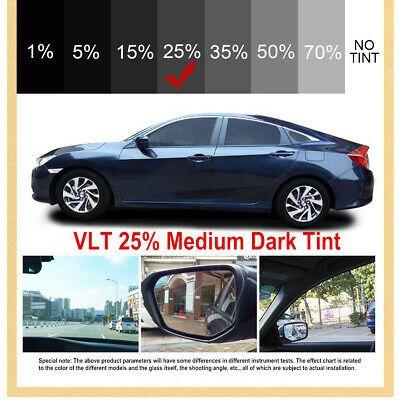 Ad Ebay 76cm 6m Black Glass Window Tint Shade Film Vlt 25 Auto