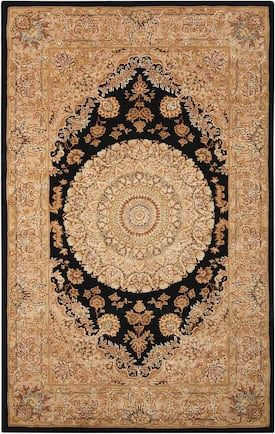 Nourison Black Nr 2000 2233 Rug Traditional Rectangle 5 6 X 8 6 Black Rug Rugs Area Rugs