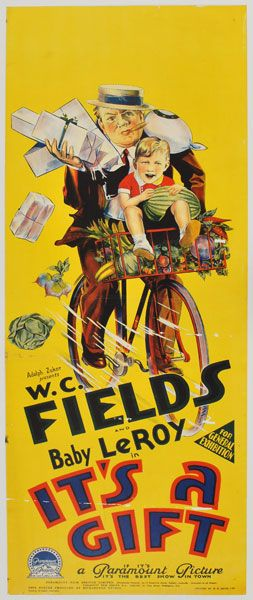 W C Fields Baby Leroy It S A Gift Movie Posters Vintage Cinema Posters Vintage Movies