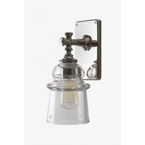 Watt Wall Mounted Single Arm Sconce With Plain Glass Shade Wall Sconces Living Room Traditional Wall Sconces Wall Lights