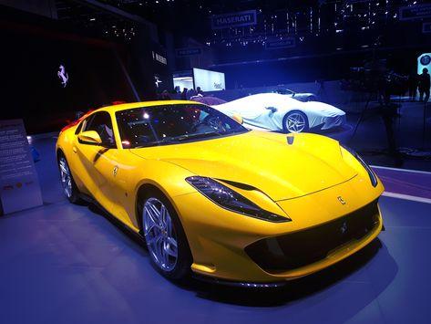 Ferrari S 812 Yellow Showcar At 2019 Geneva International Motor