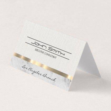 Fabric And Marble With Metallic Trim Business Card Zazzle Com Folded Business Cards Folded Cards Cards