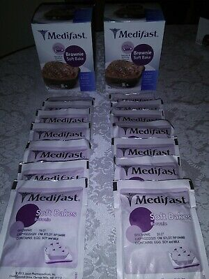 Sponsored 2 Full Boxes Medifast Optavia Brownie Soft Bake 14 Meals New Exp 10 22 20 Baking Cups Chocolate Shake Baking