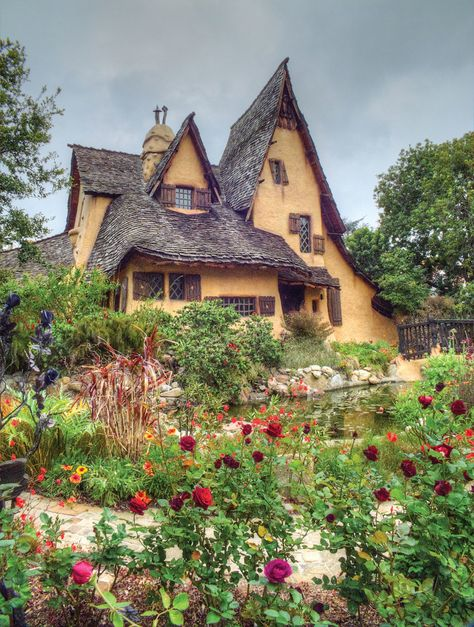 """Century Storybook Homes Spadena House in Beverly Hills, """" a cleverly wrought caricature of dilapidated antiquity,"""" is the ultimate Storybook example."""