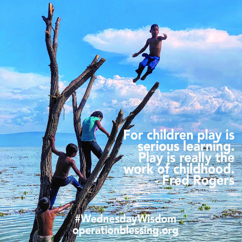 For children play is serious learning. Play is really the work of childhood. - Fred Rogers #WednesdayWisdom #Mexico